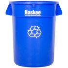 Continental 3200-1 Huskee 32 Gallon Blue Recycle Trash Can