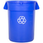 32 Gallon Blue Recycling Trash Can