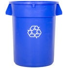 Continental 3200-1 Huskee 32 Gallon Blue Recycling Trash Can