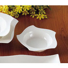 CAC STA-108 Fashionware 10 oz. Bone White Five Star Porcelain Pasta Bowl - 24/Case