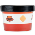 Choice 12 oz. Double-Wall Poly Paper Soup / Hot Food Cup with Vented Paper Lid - 250/Case