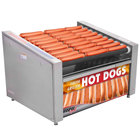 APW Wyott HRS-50BD 35 inch Hot Dog Roller Grill with Tru-Turn Rollers and Bun Drawer - 120V