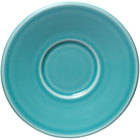 Homer Laughlin 293107 Fiesta Turquoise 6 3/4 inch Jumbo Saucer - 12 / Case