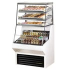 True THAC-36DG-LD-WH 36 inch White Refrigerated Horizontal Air Curtain Merchandiser with Five Shelves - 8.8 Cu. Ft.