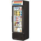 True GDM-19T-LD Black Refrigerated Glass Door Merchandiser with LED Lighting - 19 Cu. Ft.