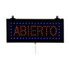 Aarco Rectangular Abierto Open LED Sign