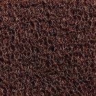 Cactus Mat 1451M-B35 Vinyl-Coil 3' x 5' Brown Scraper Mat - 3/8 inch Thick