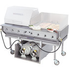 Bakers Pride CBBQ-60S-P Liquid Propane 60 inch Ultimate Outdoor Gas Charbroiler with Tank Caddy