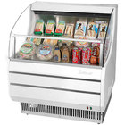 Turbo Air TOM-30S White 28 inch Slim Line Horizontal Air Curtain Display Case - 4.6 Cu. Ft.