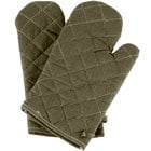 Choice 13 inch Flame-Retardant Oven Mitts - Pair