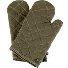 Choice 13 inch Flame-Retardant Oven Mitts - 2/Pack