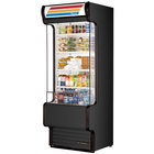 True TAC-30GS-LD 30 inch Black Refrigerated Glass Sided Air Curtain Merchandiser - 25.5 Cu. Ft