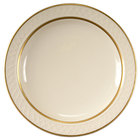 Homer Laughlin 1420-0344 Westminster Gothic 6 1/4 inch Narrow Rim Plate - Off White 36 / Case