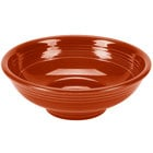 Homer Laughlin 765334 Fiesta Paprika 2 Qt. Pedestal Serving Bowl - 4 / Case