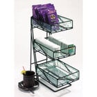 Cal Mil 1235-Tea Wire and Faux Glass Tea Center Coffee Condiment Organizer