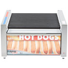 APW Wyott HRS-31BW 24 inch Hot Dog Roller Grill with Slanted Tru-Turn Rollers and Bun Warmer - 120V
