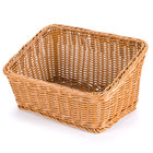 GET WB-1510-H Designer Polyweave Plastic Cascading Basket - Honey 9 1/4 inch x 13 inch - 6/Pack