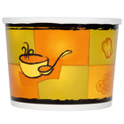 Huhtamaki Chinet 71850 12 oz. Double-Wall Poly Paper Soup / Hot Food Cup with Vented Paper Lid and Streetside Design - 250/Case