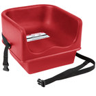 Cambro 100BCS158 Hot Red Single Seat Booster Chair with Strap