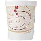Dart Solo KH32A-J8000 32 oz. Double-Wall Poly Paper Soup / Hot Food Cup with Vented Paper Lid and Symphony Design - 250/Case