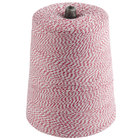 Red and White Variegated Cotton Baker's Twine 2 lb. Cone