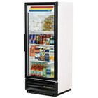 True GDM-12-LD White Glass Door Refrigerated Merchandiser with LED Lighting and White Trim - 12 Cu. Ft.
