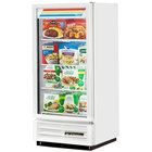 True GDM-10F-LD White Glass Door Merchandiser Freezer with LED Lighting and White Trim - 10 Cu. Ft.