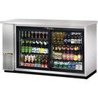 """True TBB-24-60G-SD-S-LD 61"""" Stainless Steel Sliding Glass Door Back Bar Refrigerator with LED Lighting - 24"""" Deep"""