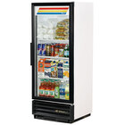 True GDM-12F-LD White 25 inch Glass Door Merchandiser Freezer with LED Lighting and White Trim - 12 Cu. Ft.