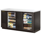 True TBB-3G-LD 69 inch Glass Door Back Bar Refrigerator with LED Lighting