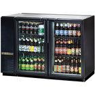 "True TBB-24GAL-48G-LD 48"" Glass Door Back Bar Refrigerator with Galvanized Top and LED Lighting - 24"" Deep"