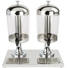 Choice 4.2 Gallon Stainless Steel Double Beverage Dispenser