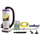 ProTeam 107118 6 Qt. Super QuarterVac HEPA Backpack Vacuum Cleaner with 107100 Xover Floor Tool Kit D - 120V