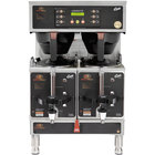 Curtis G4GEMTIF10B1000 Gemini Stainless Steel Twin Satellite Coffee Brewer with IntelliFresh - 220V