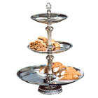 Apex ATL18-1210-S Atlantis Series Three Tier Food Tray with Silver Column - 24