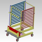 Alto-Shaam UN-27968 Roll-In Pan Cart Trolley for 12.20MW, 12.20W, 12-20es, and QC-50 Models - Holds 70 Plates