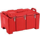 Cambro 100MPC158 Camcarrier Red Top loading Pan Carrier with Handles for 12 inch x 20 inch Food Pans
