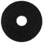 Scrubble by ACS 72-14 Type 72 14 inch Black Stripping Floor Pad   - 5/Case