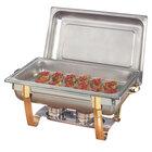 American Metalcraft ALLEGRT10 9 qt. Allegro Gold Trim Full Size Rectangular Chafer