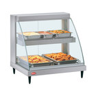 Hatco GRCD-3PD Glo-Ray Two Shelf Full Service Heated Display Case with Curved Glass - 45 1/2 inch