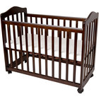 L.A. Baby CW-35-CH 37 inch x 19 1/2 inch x 26 inch Cherry Colored Original Bedside Manor Cradle