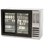 Beverage Air BB48GSYF-1-S-PT-LED 48 inch Food Rated Pass-Through Sliding Glass Door Back Bar Refrigerator - Stainless Steel