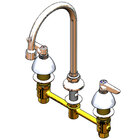 T&S B-2851-133X-VR Deck Mount Vandal Resistant Easy Install Faucet with 8 inch Centers, 10 3/4 inch Gooseneck, and Eterna Cartridges