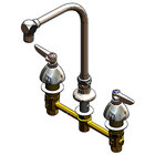 T&S B-2853-RSW Deck Mount Easy Install 2.2 GPM Faucet with 8 inch Centers, 11 1/2 inch Gooseneck, and Quarter Turn Eterna Cartridges