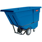 Rubbermaid FG130500DBLUE Dark Blue 0.5 Cubic Yard Tilt Truck (850 lb.)