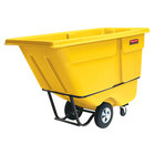 Rubbermaid FG131500YEL Yellow 1.0 Cubic Yard Tilt Truck (1250 lb.)