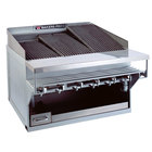 Bakers Pride CH-14GS Natural Gas 76 inch 14 Burner Heavy Duty Glo-Stone Charbroiler - 252,000 BTU