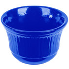 Tablecraft CW1453BL 16 oz. Cobalt Blue Cast Aluminum Condiment Bowl