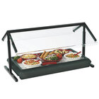 Carlisle 972203 73 1/4 inch x 29 1/8 inch Black Adjustable Double Sneeze Guard for Five Star Buffet Bars