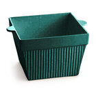 Tablecraft CW1490HGNS 6.5 Qt. Hunter Green with White Speckle Cast Aluminum Square Bowl